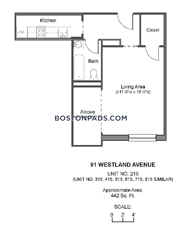Studio 1 Bath - Boston - Northeastern/symphony $2,590